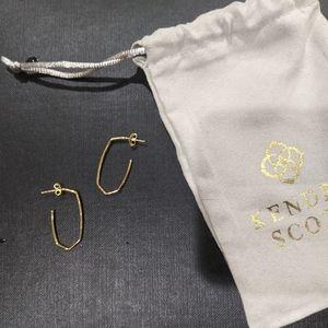 NEW Kendra Scott Ellen Hoop Earrings In 18k Gold